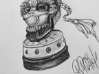 Daily Sketch: Dia de los Cortez Gas Mask