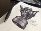 Daily Creation: Last Shot 14 Gas Mask sketch