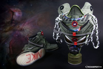 The 19th sneaker mask created by Freehand Profit. Made from 1 pair of 2012 All Star Game Nike Dunks. Find out more about the work on FREEHANDPROFIT.com.