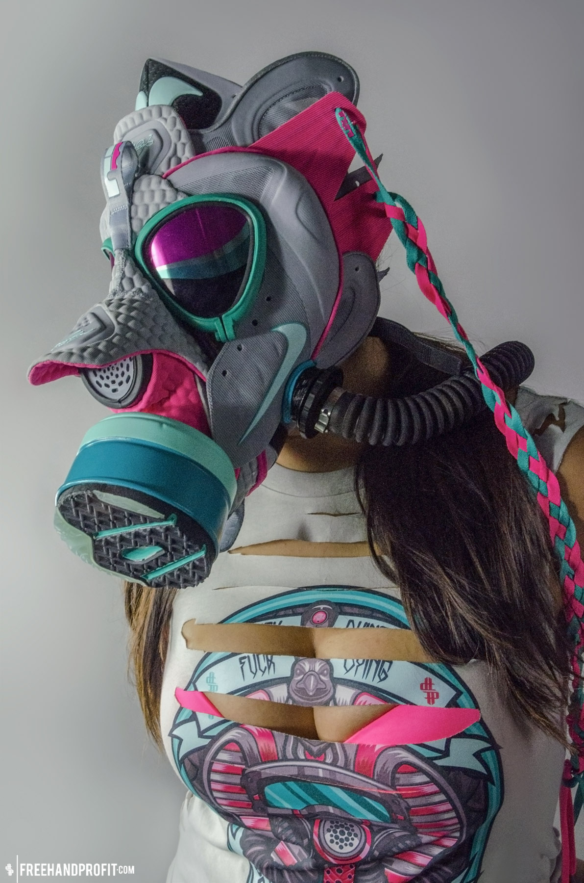 4bb5b7b75965 Nike LeBron 9 Elite Miami Vice Gas Mask by Freehand Profit – THE ...