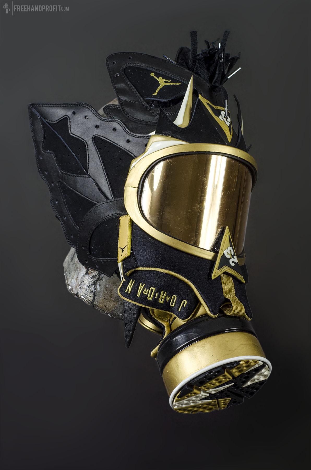 The 36th sneaker mask created by Freehand Profit. Made from 1 pair of Air  Jordan f1ffbeeaf