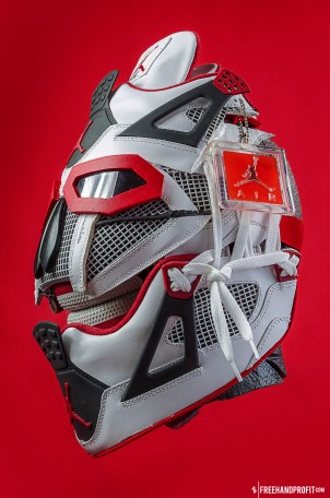 WEB 045 Fire Red Jordan IV Mask 02