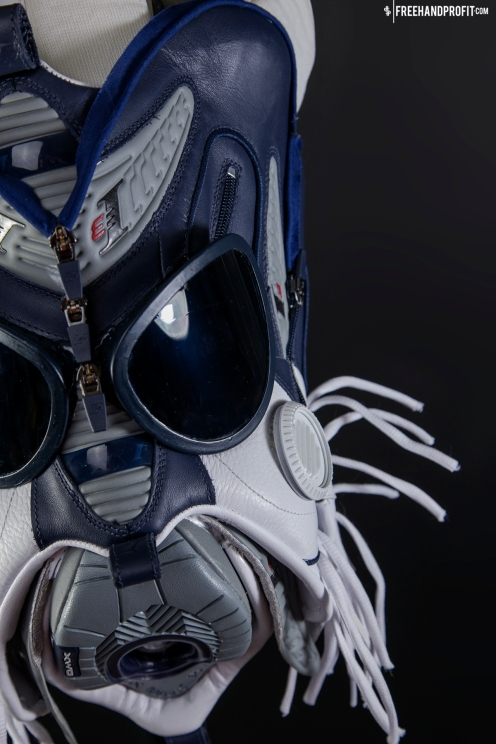 The 64th sneaker mask created by Freehand Profit. Made from 1 pair of Reebok Answer IVs. Find out more about the work on FREEHANDPROFIT.com.