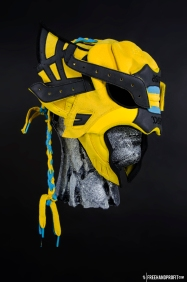 The 65th sneaker mask created by Freehand Profit. Made from 1 pair of Asics x BAIT. Find out more about the work on FREEHANDPROFIT.com.