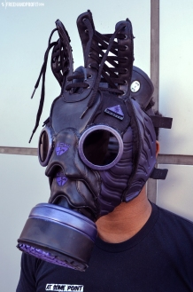 The 66th sneaker mask created by Freehand Profit. Made from a single pair of Nike ACG Foamposite Boots. Find out more about the work on FREEHANDPROFIT.com.