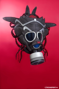 The 68th sneaker mask created by Freehand Profit. Made from 2 pairs of 3M Nike SB Dunks. Find out more about the work on FREEHANDPROFIT.com.