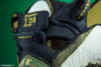 The 78th sneaker mask created by Freehand Profit. Made from 1 pairs of Jordan Doernbecher 9s. Find out more about the work on FREEHANDPROFIT.com.