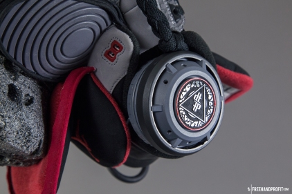 """The 86th sneaker mask created by Freehand Profit. Made from 1 pair of """"Stealth 3s"""", Jordan Retros from 2011. Find out more about the work on FREEHANDPROFIT.com."""