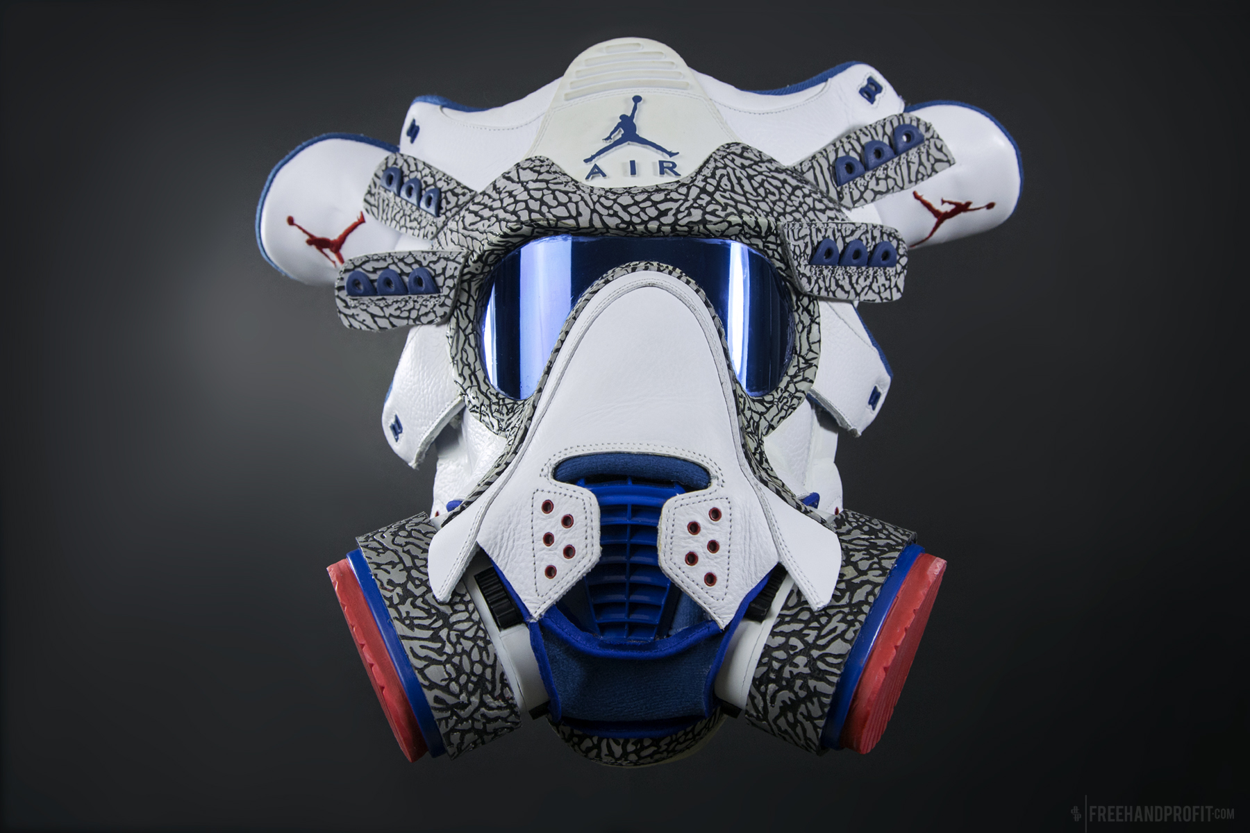 The 95th sneaker mask created by Freehand Profit. Made from 1 pair of size  17 e4911b4b0