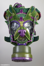"The 82nd sneaker mask created by Freehand Profit. Made from 1 pair of Nike SB ""Skunk Dunks"" by Todd Bratrud. Find out more about the work on FREEHANDPROFIT.com."
