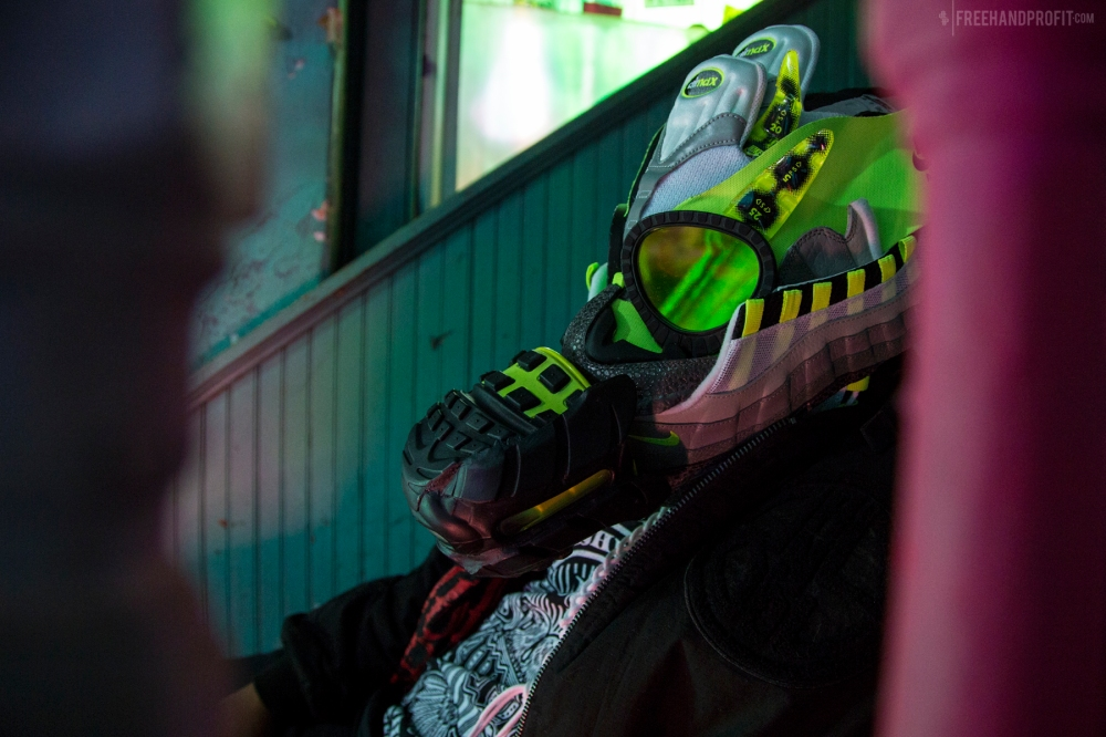 Air Max 95 OG Neon Gas Mask by Freehand Profit