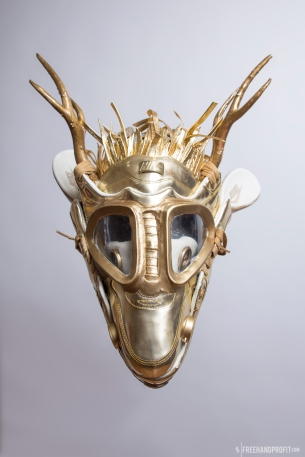 The 110th sneaker mask created by Freehand Profit. Made from a single pair of B Grade Air Max 1 Liquid Golds. Released on Air Max Day 2016. Find out more about the work on FREEHANDPROFIT.com.