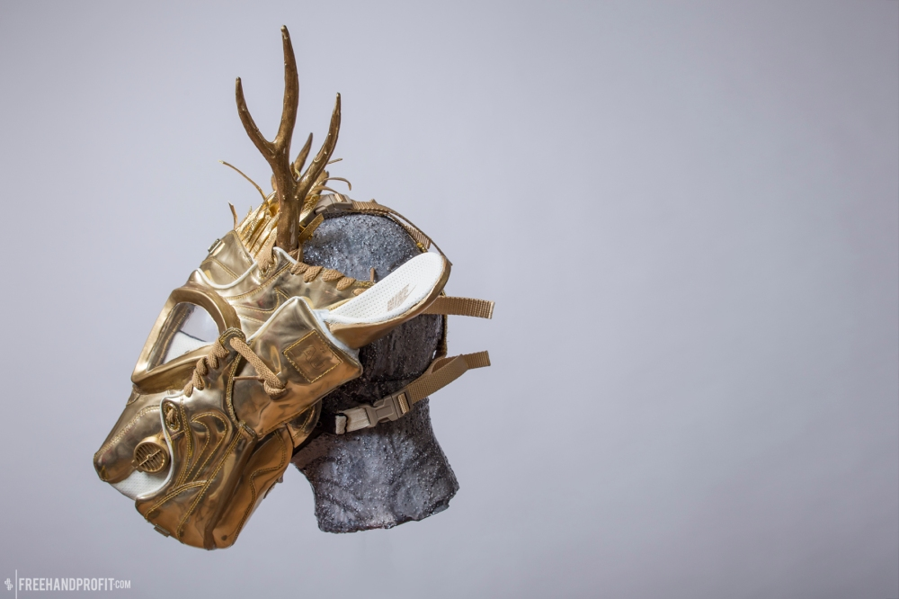 Air Max 1 Liquid Gold Gas Mask by Freehand Profit