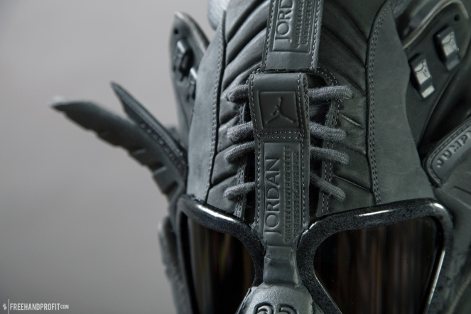 The 116th sneaker mask created by Freehand Profit. Made from 1 pair of Jordan XII x Public School. Created for Reshoevn8r The Ultimate Sneaker Cleaner - Reshoevn8r.com. Find out more about the artwork on FREEHANDPROFIT.com.