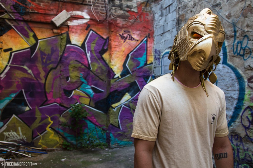 Golden Yeezy II Horus Mask by Freehand Profit