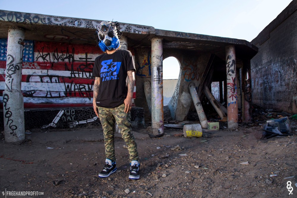 Sport Blue Jordan 3 Gas Mask by Freehand Profit