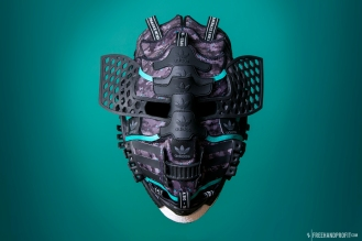 The 127th sneaker mask created by Freehand Profit. Made from 3 pairs of adidas NMD R1s. Find out more about the work on FREEHANDPROFIT.com.