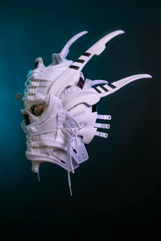 The 133rd sneaker mask created by Freehand Profit. Made from 2 pairs of adidas EQT Support ADVs. Find out more about the work on FREEHANDPROFIT.com. On display at adidas SOHO 3/2017!
