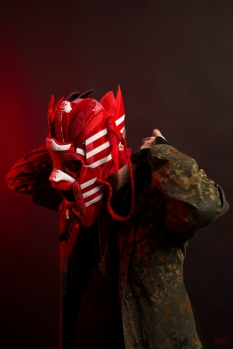 The 135th sneaker mask created by Freehand Profit. Made from 2 pairs of adidas Dragon OGs. Find out more about the work on FREEHANDPROFIT.com. On display at adidas SOHO 3/2017!