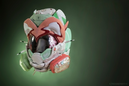 The 139th sneaker mask created by Freehand Profit. Made from 1 pair the 2017 AFEW x Diadora V.7000s. Find out more about the work on FREEHANDPROFIT.com.