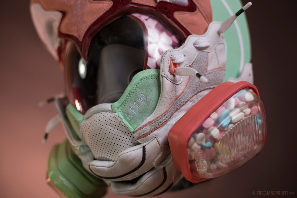 AFEW x Diadora V.7000 Gas Mask by Freehand Profit