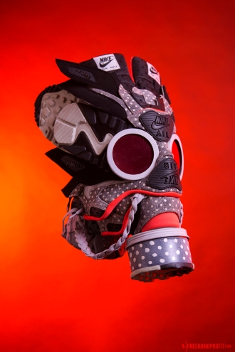 In celebration of Air Max Day 2017, the 142nd & 143rd sneaker masks created by Freehand Profit. Made from Air Max 90s and Air Max 1s. Find out more about the work on FREEHANDPROFIT.com.