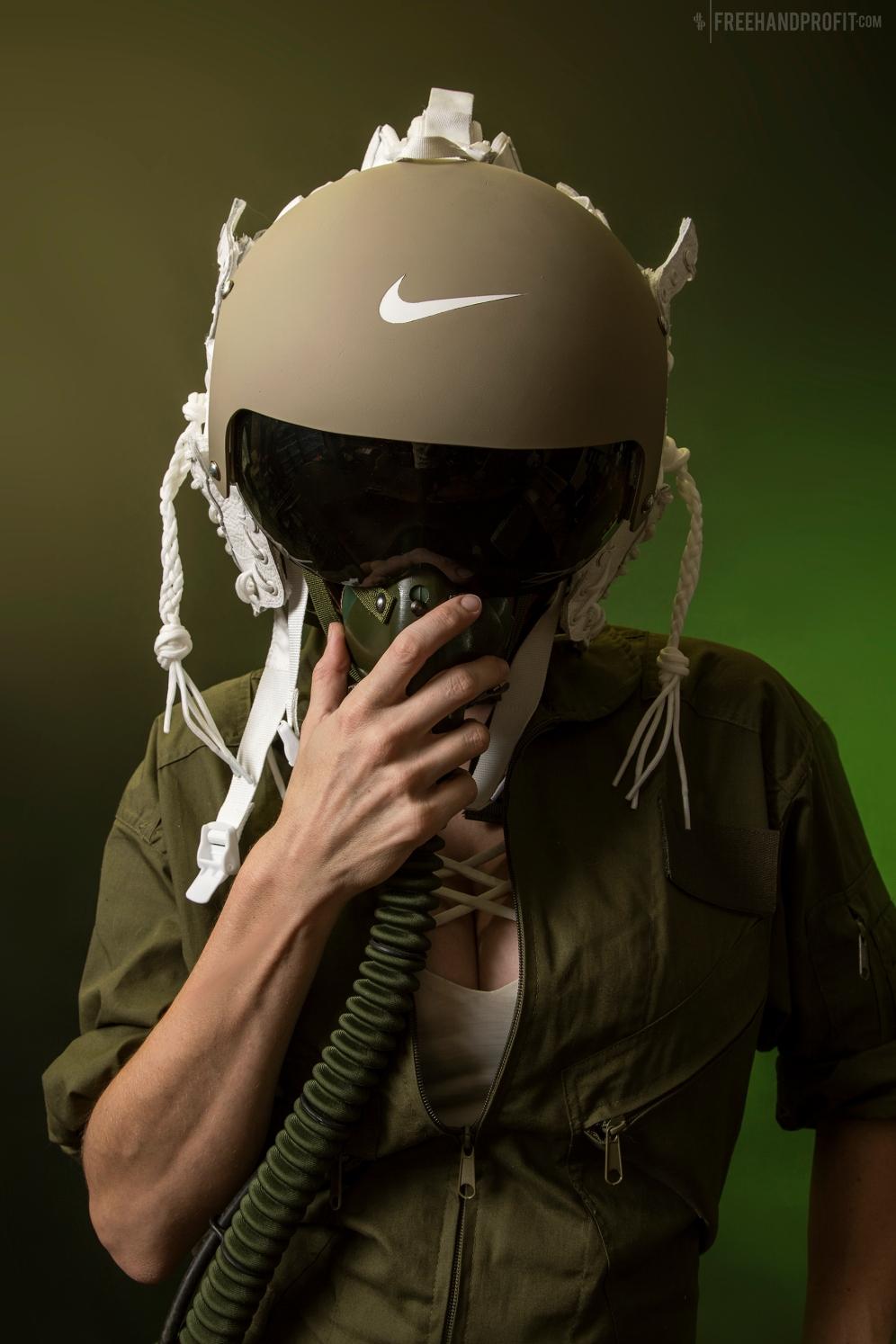 WEB 155 SF-AF1 Olive FLight Helmet 01