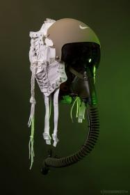 WEB 155 SF-AF1 Olive FLight Helmet 04