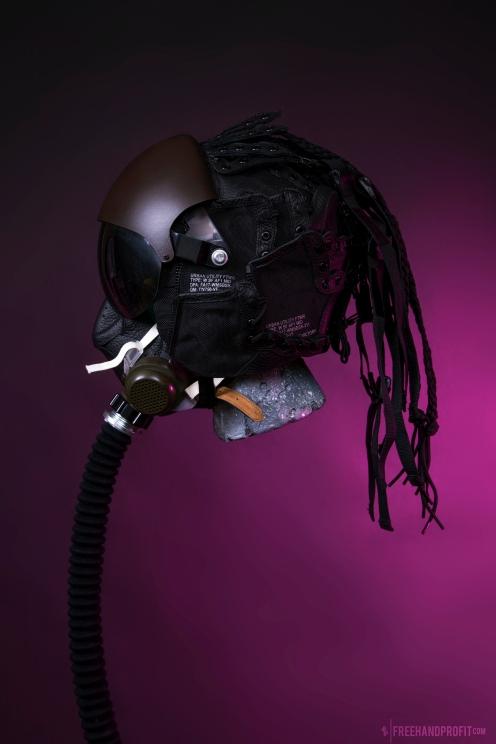 WEB 159 SF-AF1 Black Hazel Flight Helmet 02