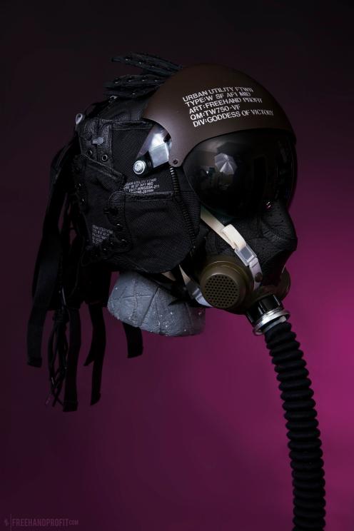 WEB 159 SF-AF1 Black Hazel Flight Helmet 03