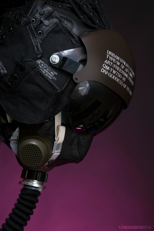 WEB 159 SF-AF1 Black Hazel Flight Helmet 04