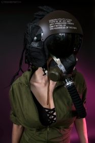 WEB 159 SF-AF1 Black Hazel Flight Helmet 05