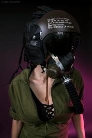 WEB 159 SF-AF1 Black Hazel Flight Helmet 05