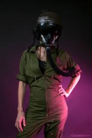 WEB 159 SF-AF1 Black Hazel Flight Helmet 06