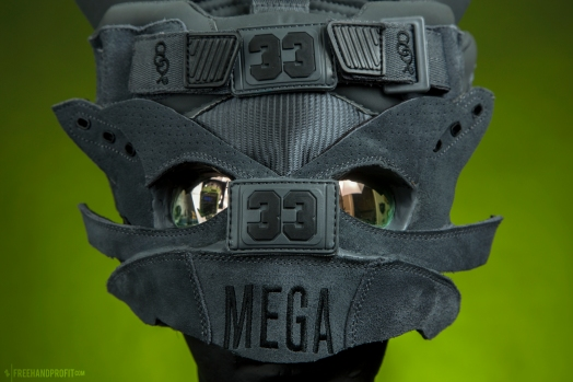 The 163rd sneaker mask created by Freehand Profit. Made from a single pair of Ewing Athletics 33 HI x Cormega x 8&9. Find out more about the work on FREEHANDPROFIT.com.
