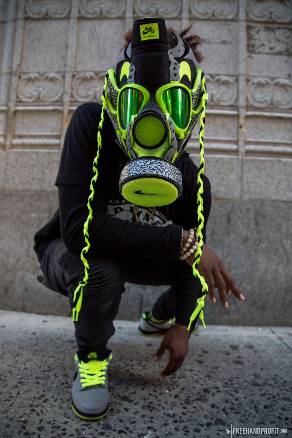112 x Nike PRod7 Sneaker Gas Mask by Freehand Profit