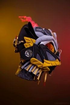 The 168th sneaker mask created by Freehand Profit. Made from a single pair of Puma x BAU Blaze of Glory. Find out more about the work on FREEHANDPROFIT.com.