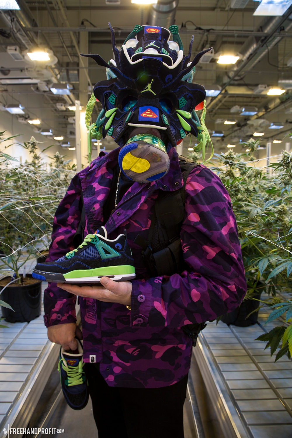 Doernbecher Jordan IV Gas Mask by Freehand Profit