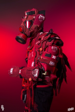 The very first suit of sneaker body armor. Made from 9 pairs of Ewing 33s. Created for @figgs8and9 of @8and9 Clothing. Find out more about the work on FREEHANDPROFIT.com.