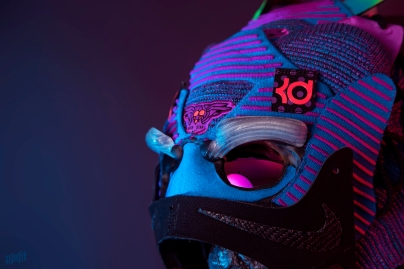 The 171st sneaker mask created by Freehand Profit. Made from a single pair of Doernbecher Nike KD X, a pair of size 17s that belonged to Kevin Durant himself. Find out more about the work on FREEHANDPROFIT.com.