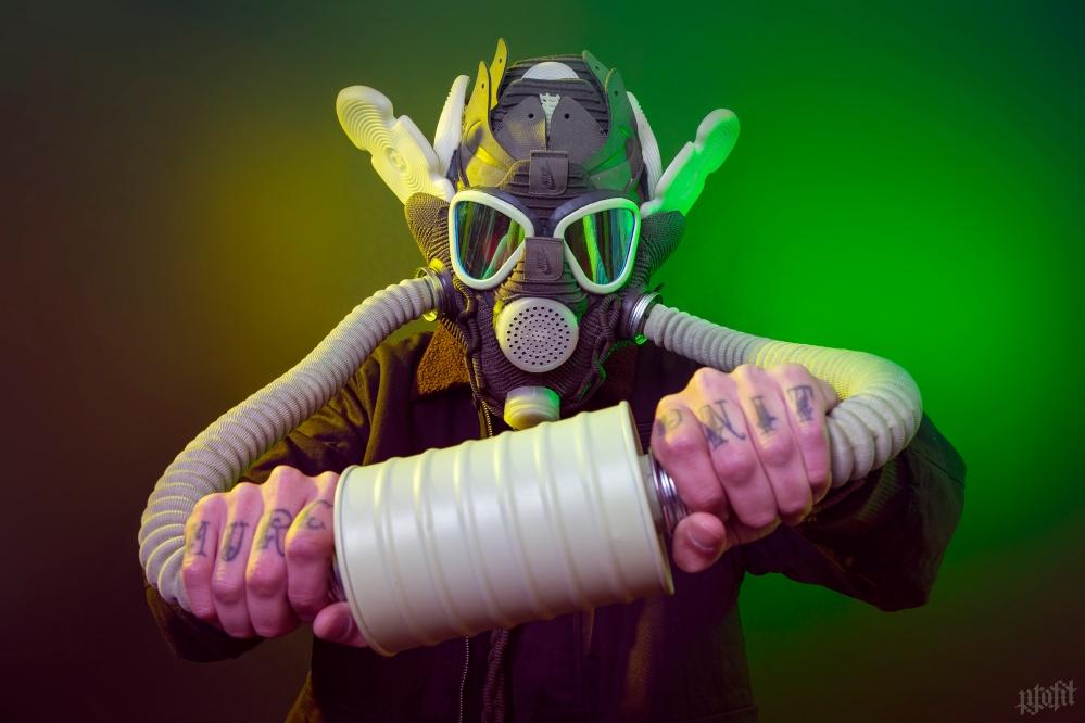 KD X Olive Glow Gas Mask by Freehand Profit
