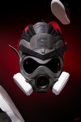 The 184th sneaker mask created by Freehand Profit. Made from a pair of Forgiato X John Geiger 001s. Find out more about the work on FREEHANDPROFIT.com.