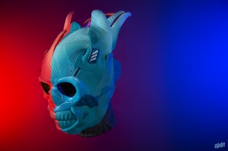 The 193rd sneaker mask created by Freehand Profit. Made from adidas Alpha Bounce. Modeled by Gui DeSilva. Find out more about the work on FREEHANDPROFIT.com.