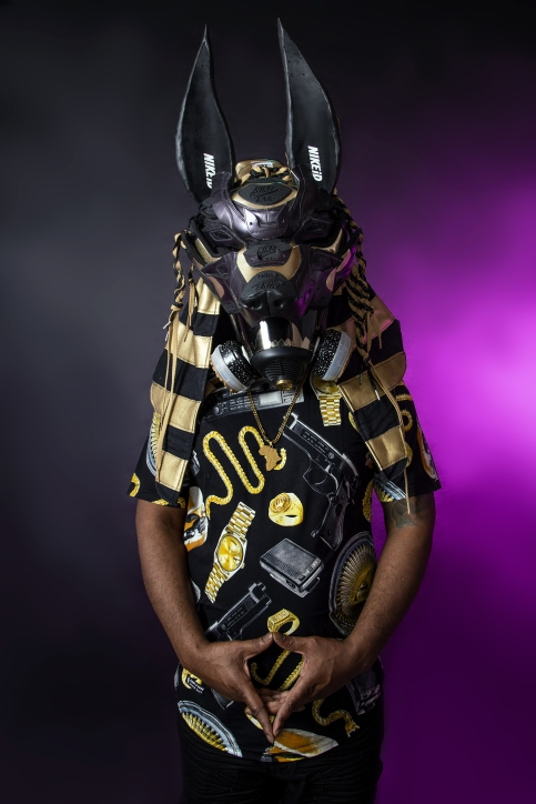 Air Max 90 Anubis Gas Mask by Freehand Profit