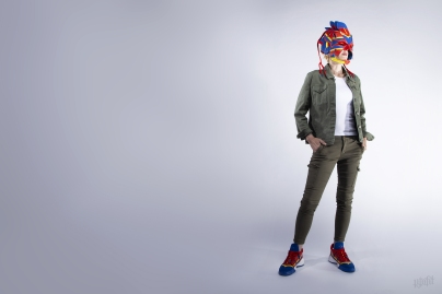 The 197th sneaker mask created by Freehand Profit. Made from 2 pairs of adidas x Marvel Prov Vision sneakers. Find out more about the work on FREEHANDPROFIT.com.