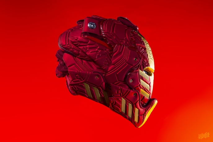 The 198th sneaker mask created by Freehand Profit. Made from 3 pairs of adidas Harden Vol 3s. Find out more about the work on FREEHANDPROFIT.com.