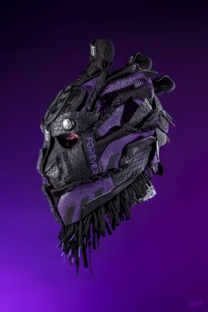 The 199th sneaker mask created by Freehand Profit. Made from 3 pairs of adidas Dame 5 x Marvel. Find out more about the work on FREEHANDPROFIT.com.